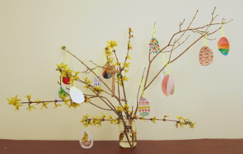 Easter tree after