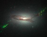 A picture taken by the Hubble space telescope