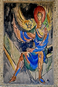 Painting of the angel in the tomb