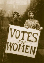 Suffragettes Annie Kenney and Christabel Pankhurst