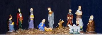 First nativity scene