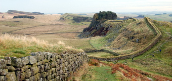 Hadrian's Wall west of Housesteads