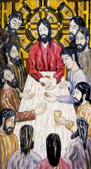 Painting of the last supper where Jesus celebrated Passover