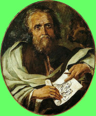 Painting of St Luke by Antônio Joaquim Franco Velasco
