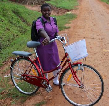 Nawalat on her bike © All We Can